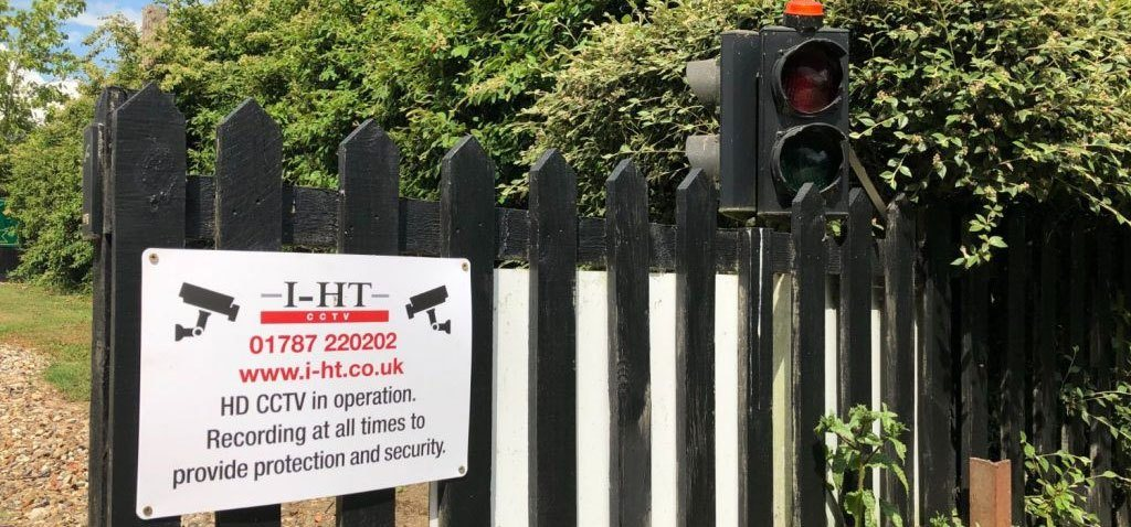 HD CCTV in operation sign